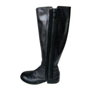 Vince Camuto Black Leather Riding Boots Size 7.5B
